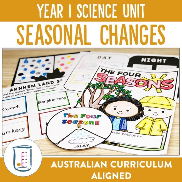 Year 1 Science Unit Seasons | Ridgy Didge Resources | Australia