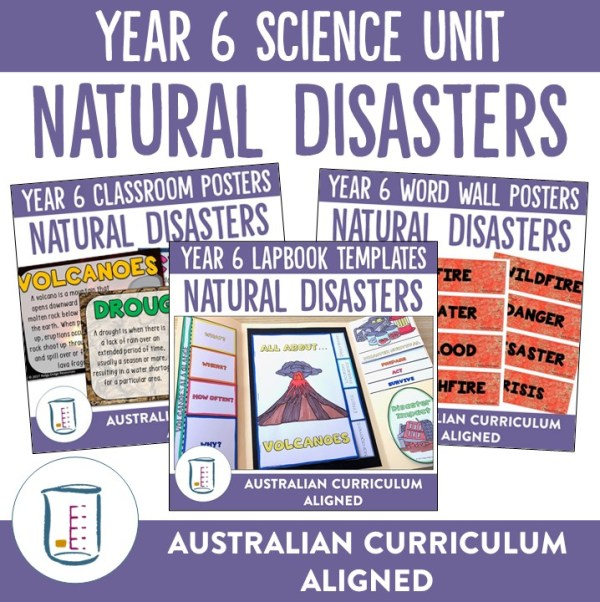 Natural Disasters Unit Cover Page | Ridgy Didge Resources | Australia