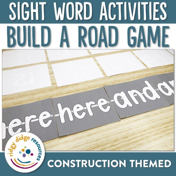 Sight Word Build a Road Game | Ridgy Didge Resources | Australia