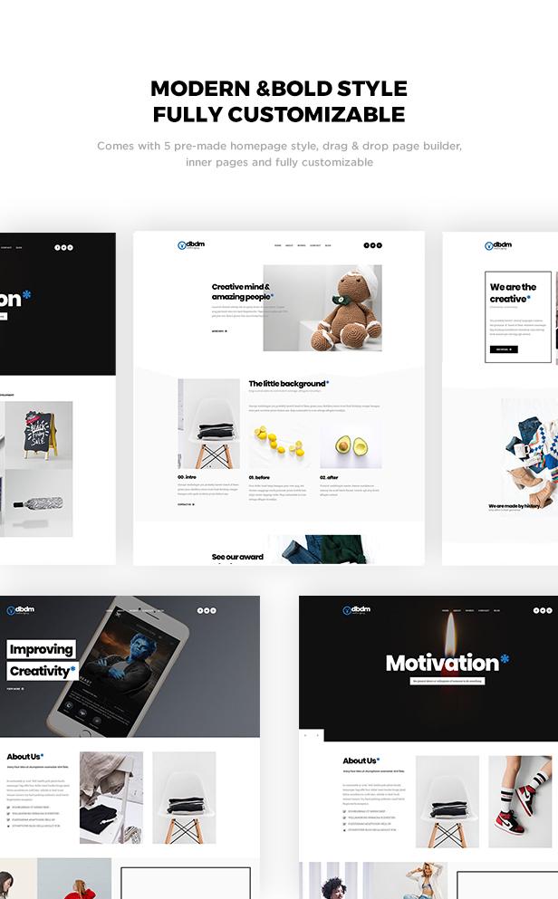 Dubidam - Creative Multi Concept & One Page Portfolio Theme - 1