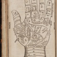 17th century palm-reading chart