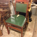Vintage Wood Folding Chair The Ridiculous Redhead