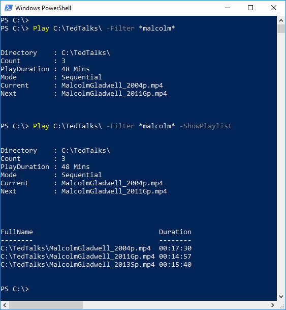 PowerShell Module to Play Music