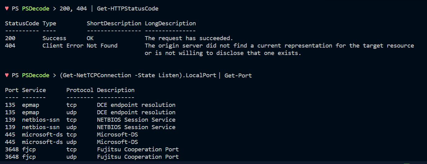 Error, Ports and HTTP Return Codes