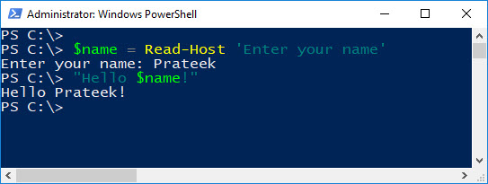 PowerShell Guide to Python – Console Input and Output