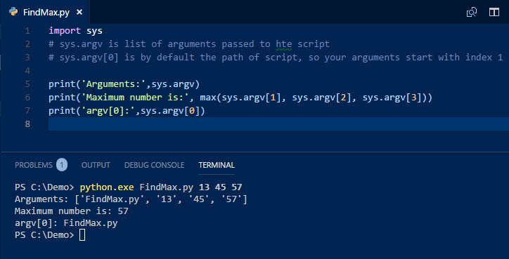 PowerShell Guide to Python | Passing Command-Line Arguments