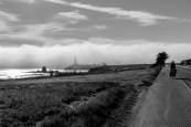 America here we go. Cycling down Highway 1. The West Coast seems to have a near permanent Ocean fog rolling in. It results in some epic views. Half Moon Bay, CA, USA