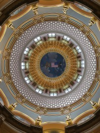 looking up in the Capital Building