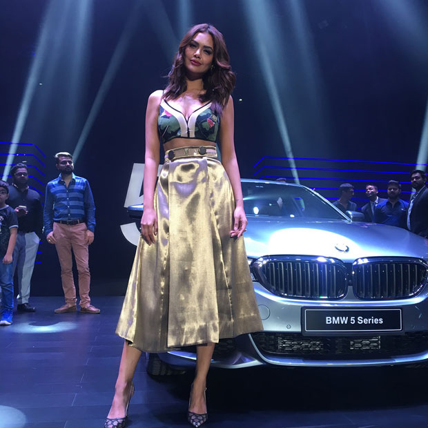 Esha Gupta & BMW 5 on RidinGirlsBlog