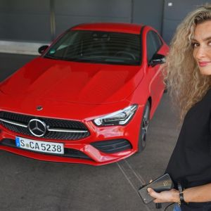Nina Weizenecker & Mercedes-Benz CLA on Ridin\'GirlsBlog