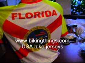 florida usa states bike jerseys, usa cycling flag FL jersey bikingthings