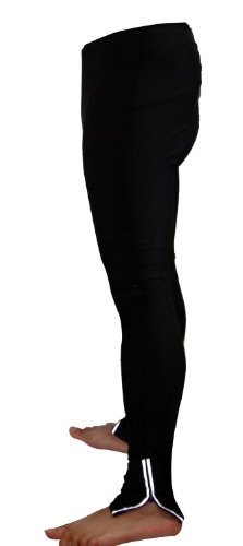 Men's Pro Elite Gel 3-D Padded Cycle Tight with Reflective Ankle Zippers (Medium, Black)