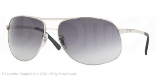 Ray-Ban RB3387 Aviator Wrap Sunglasses 64 mm, Non-Polarized,003/8G Silver/Grey Gradient