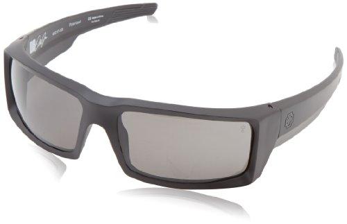 Spy Optics General Matte Black Wrap Polarized Sunglasses,Black,66 mm