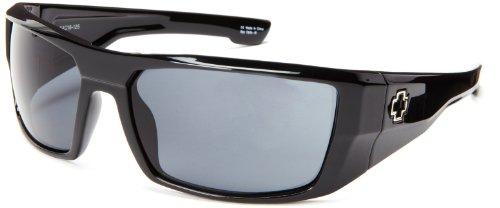 Spy Optic Dirk 672052062129 Wrap Sunglasses,Black Frame/Grey Lens,One Size