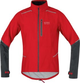 Gore Bike Wear Men's Fusion 2.0 Gore-Tex Active Shell Jacket (Red/Black, Large