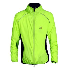 WOLFBIKE Tour de France Cycling Jacket Jersey Sportswear Water-Resistant Running Biking Jacket Long Sleeve Wind Coat Breathable Quick Dry. Color: Green, Size: M