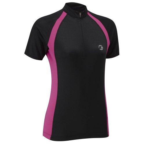 Tenn Ladies Sprint Short Sleeve Cycling Jersey Black/Pink 14