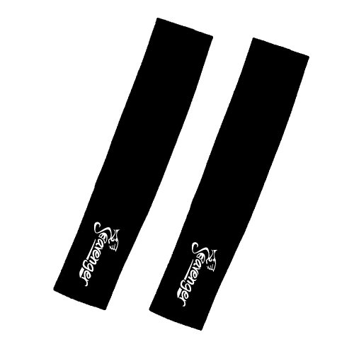 Arm Warmer Cover Uv Protection Cooling Sleeves Coolmax – Pair – Black S/M