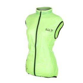 NSR Women's Wind Stop Vest, Neon Yellow, Medium