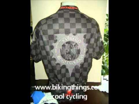 cool vassago bicycles bike jerseys, custom checker bike jersey, black and grey cycling shirts.wmv