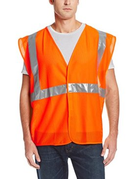 Jackson Safety ANSI Class 2 Standard Style Mesh Polyester Safety Vest with Silver Reflective