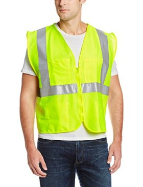 Jackson Safety ANSI Class 2 Mesh Deluxe Style Polyester Safety Vest with Silver Reflective