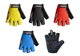 QEPAE® Non-Slip Gel Pad Gloves Men's Women's Sportswear Cycling Riding Short Half Finger Gloves Breathable