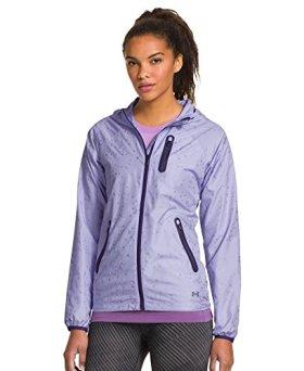 Under Armour Women's UA Qualifier Woven Jacket Large LAVENDER ICE
