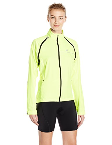Pearl Izumi Women's Elite Barrier Convertible Cycling Jacket, Yellow, Small