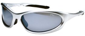Polarized P13 Sports Wrap Sunglasses with TR90 Frame (Silver & Smoke)