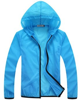 Z-SHOW Womens Super Lightweight Jacket Quick Dry Windproof Skin Coat-Sun Protection (Skyblue,L)