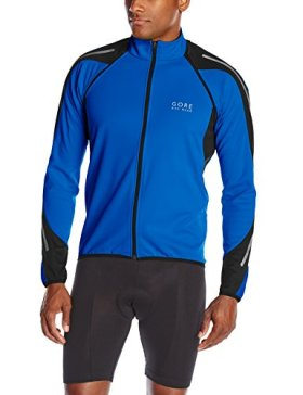 Gore Bike Wear Men's Phantom 2.0 Soft Shell Jacket, Brilliant Blue/Black, Large