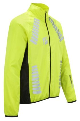 Elite Cycling Project Men's Cyclone Waterproof Cycling Jacket (Hi Viz Green, 2XL)