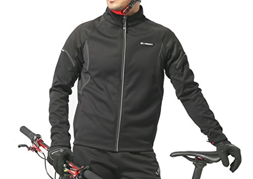 Winter Cycling Jacket, Men's, Waterproof, Med, Black & Gray