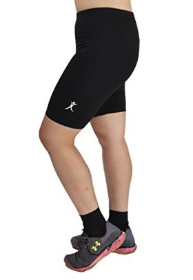 A Big Attitude Women's Plus Size Performance Bike Shorts (5X, Black)