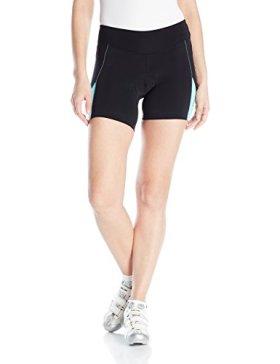 Pearl Izumi – Ride Women's Sugar Shorts, Black/Aqua Mint, Small