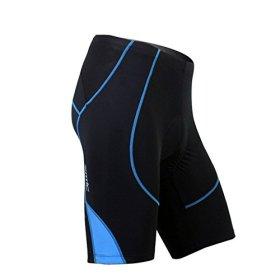 SANTIC Cycling Men's Shorts Biking Bicycle Bike Pants Half Pants 4D COOLMAX Padded Blue XL