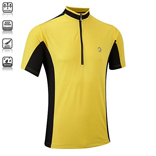 Tenn Mens Coolflo S/S Cycling Jersey – Yellow/Black – XL