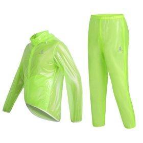 WOLFBIKE Waterproof Cycling Jacket Jersey Raincoat Pants Superlight, Fluorescent Green, Size M