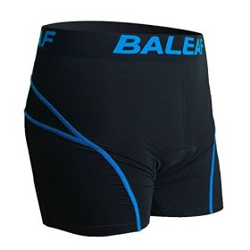 Baleaf Men's 3D Padded Bicycle Cycling Colored Underwear Shorts (Green, S)