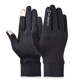 Vbiger Outdoor Cycling Driving Warm Touchscreen Gloves (Black 2, L)