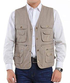 WantDo Sportswear Men's Silver Ridge Vest Khaki X-Large