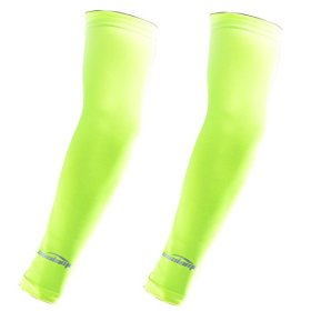 COOLOMG 2PCS CHILD KIDS Anti-slip Arm Sleeves Cover Skin Protection Sports Stretch Basketball Kids Adult Fluorescent Green M