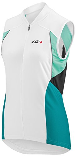 Louis Garneau Women's Beeze Vent Sleeveless Cycling Jersey, White/Green, Large