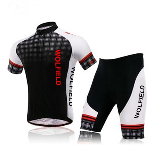 WOLFBIKE Mens Breathable Cycling Jersey 3D Padded Shorts Set Outfit