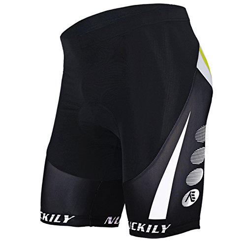 Sponeed Men's Cycle Shorts Tights Bicycle Bike Padded Short Gear Gel Size L US Multi