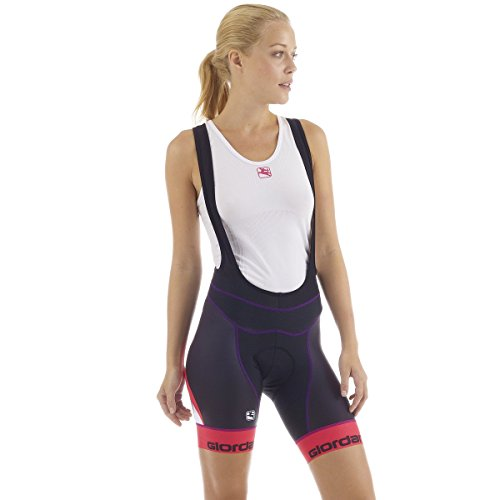 Giordana FormaRed Carbon Bib Shorts with Cirro Insert – Women's Totale Black/Purple/Pink, L