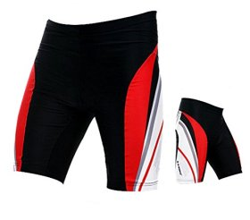 Sponeed Men's Cycle Shorts Tights Bicycle Pants Outfits Asia XL/US L Red