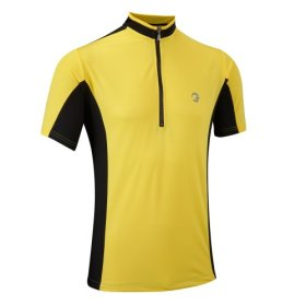 Tenn Mens Coolflo S/S Cycling Jersey – Yellow/Black – Lrg